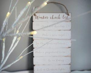 winter checklist
